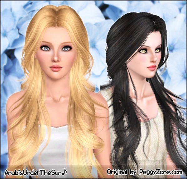 Middle parth Peggy`s hairstyle retextured by Anubis for Sims 3