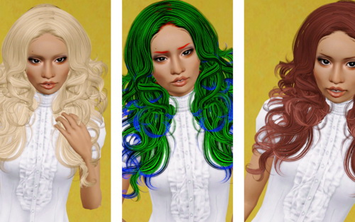 Victoria hairstyle   Newsea's Bitter Sweet retextured by Beaverhausen for Sims 3