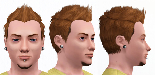 ... Thorny hairstyle for bys Faux Hawk with Widows Peak by omegastarr82 at Mod The Sims for ... - 143-600x292