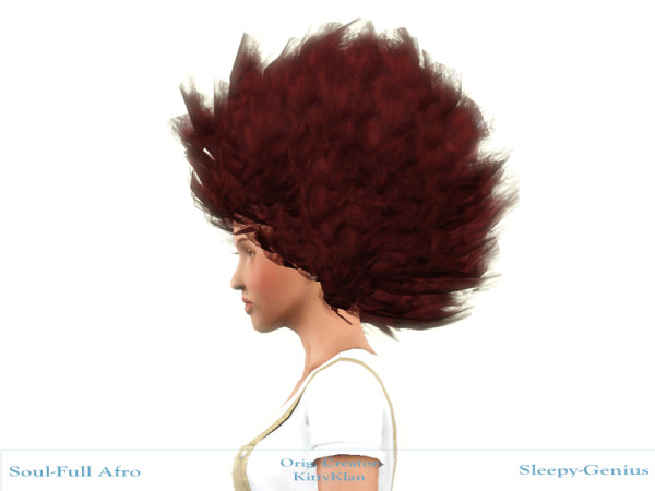 Afro hairstyle retextured by Sleepy Genius at Mod The Sims for Sims 3