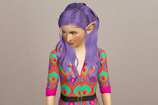 Headband hairstyle Raon 34 retextured by Beaverhausen for Sims 3