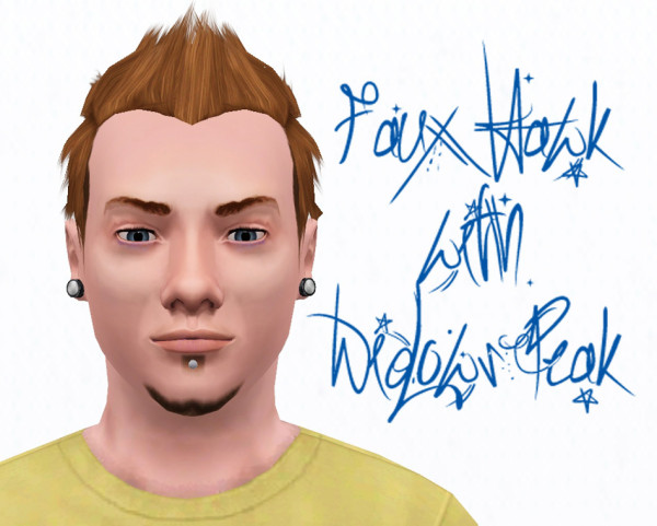 ... Thorny hairstyle for bys Faux Hawk with Widows Peak by omegastarr82 at Mod The Sims for - 153-600x481