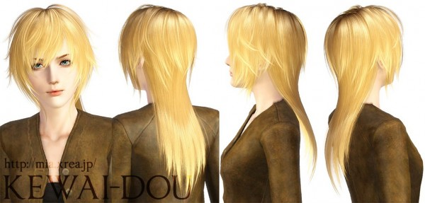 Crazy hairstyle   Tumblr1000 by Kewai Dou for Sims 3