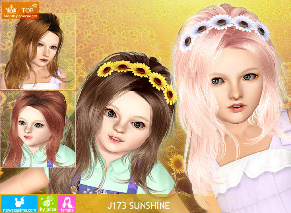 Teased hairstyle   J173 Sunshine for Sims 3