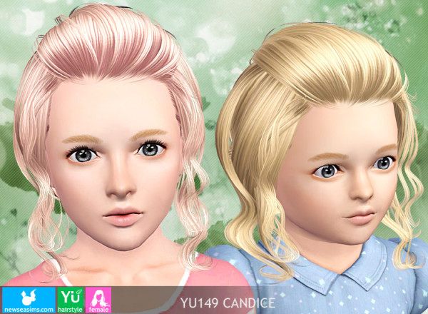 Caught bangs hairstyle YU149 Candice by NewSea  for Sims 3