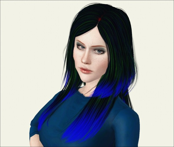 Two types of hairstyle   Cazy Autumn Wind Retextured by Phantasia for Sims 3