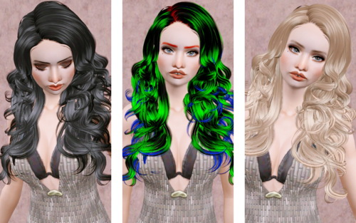 Tight Curled Cutie hairstyle   Newsea's Bittersweet retextured by Bevarhausen for Sims 3