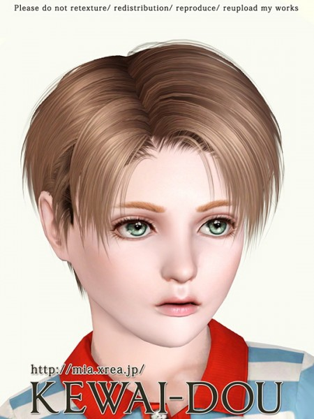 Middle parth hairstyle for boys   Levi by Kewai Dou for Sims 3