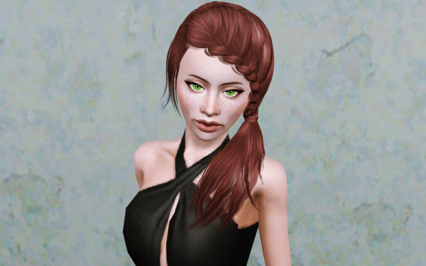 Side braided from store retextured by Beaverhausen for Sims 3