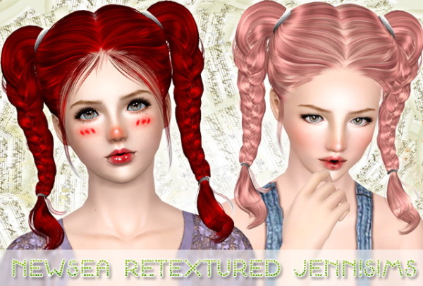 Awe Inspiring Double Braids Hairstyle Newsea Retextured By Jenni Sims Sims 3 Hairs Short Hairstyles For Black Women Fulllsitofus