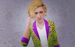 Glam hairstyle   Newsea's Rough Sketch retextured by Beaverhausen for Sims 3