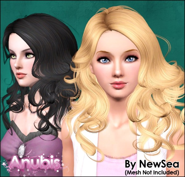 Curly hairstyle NewSea`s SpotLight retextured by Anubis for Sims 3