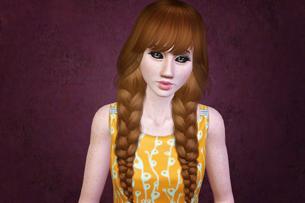Admirable Double Braids Hairstyle Raon Retextured By Beaverhausen Sims 3 Hairstyles For Women Draintrainus
