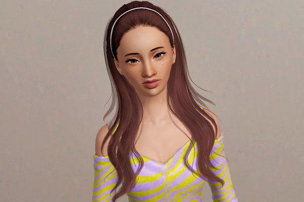 The Simple Headband Hairstyle Sky Sims Retextured By