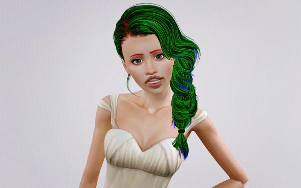 Braid hairstyle Skysims retextured by Beaverhausen  for Sims 3