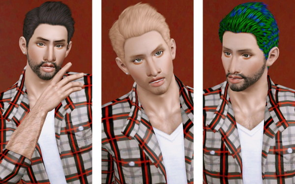 Casual hairstyle for boys haiurstyle   Cazy's Deangelo retextured by Beaverhausen for Sims 3