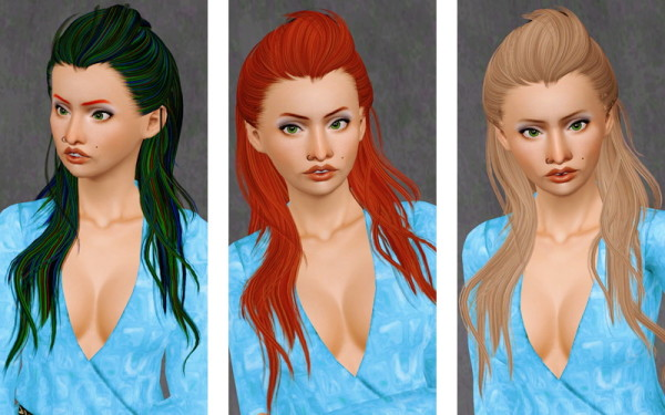 Fresh Fringe hairstyle Newsea's Swallowtail retextured by Beaverhausen for Sims 3