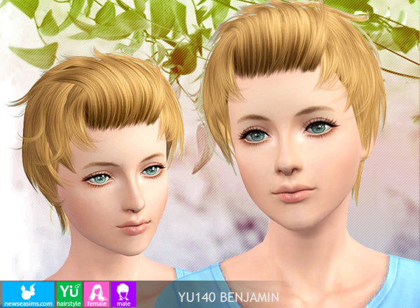 Texturized hairstyle YU140 by NewSea for Sims 3