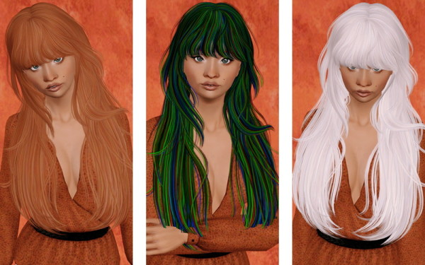 Heavy Bangs hairstyle   Newsea's Hideout Doo retextured by Beaverhausen for Sims 3