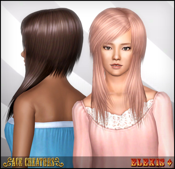 Peggy`s 4233 hairstyle retextured by Ace Creators for Sims 3