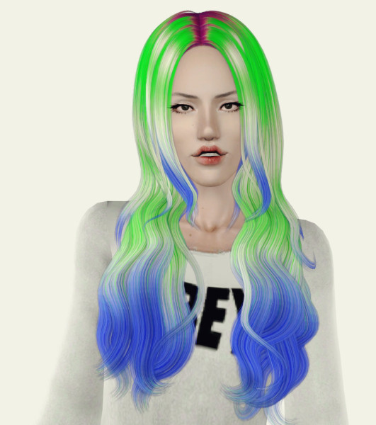 Wavy hairstyle   Cazy 109 Retextured by Phantasia for Sims 3
