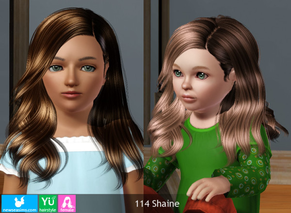 Fringed ponytail hairstyle 115 Xylona by NewSea for Sims 3
