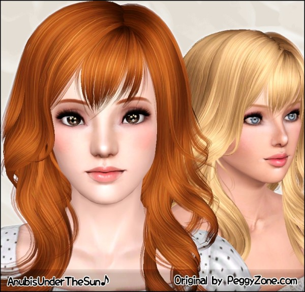 Waves and fringes Peggy`s hairstyle by Anubis for Sims 3