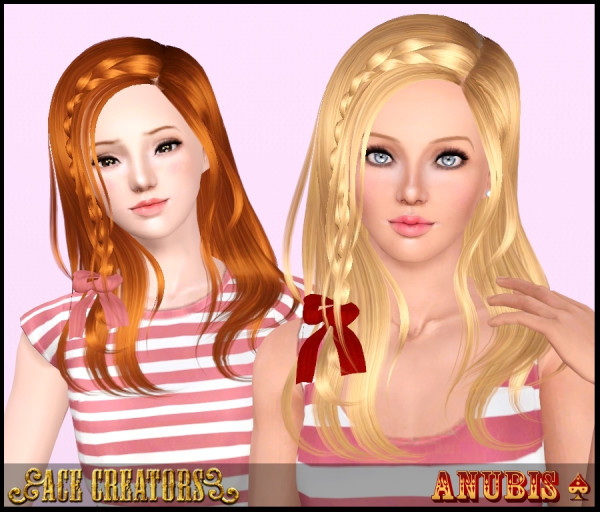 Peggy`s 4065 hairstyle retextured by Ace Creators for Sims 3