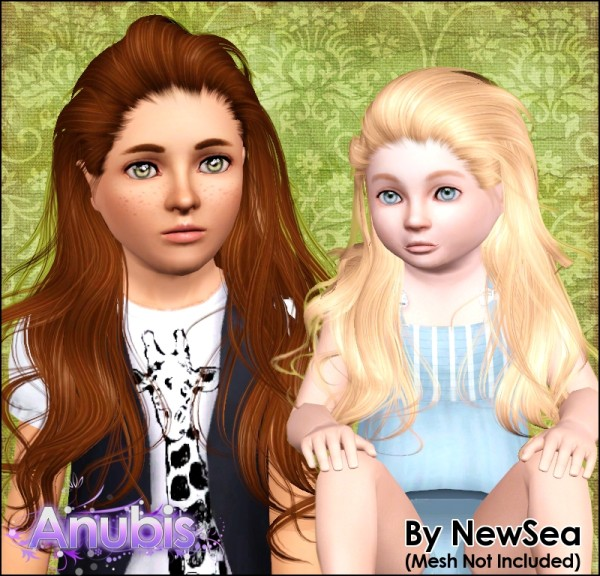 Combed back hairstyleNewSea`s Paradise retextured by Anubis for Sims 3