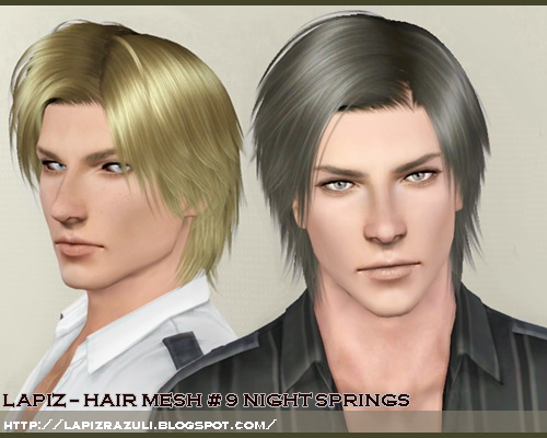 Mike hairstyle 9   Night Springs by Lapiz`s Scrapyard for Sims 3