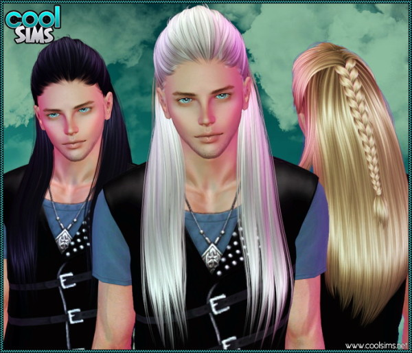 Half up braided hairstyle Primouno by Anto  for Sims 3
