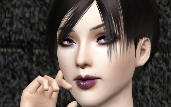 Shiny hairstyle Rose 057 retextured by Bring Me Victory for Sims 3