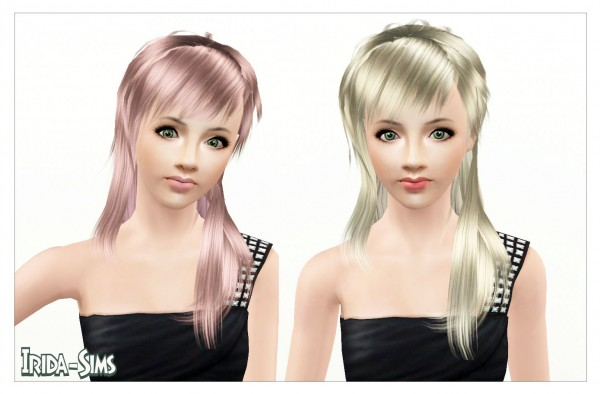 Thin and assymetric hairstyle with bangs   Light by Irida  for Sims 3