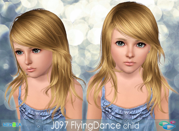 J097 Flying Dance – Angled bangs hairstyle by NewSea for Sims 3