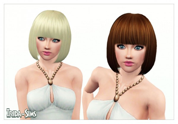 Classic bob with bangs hairstyle   Elin by Irida for Sims 3