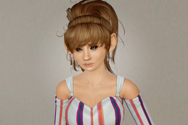 High ponytail with big bangs   Newsea's Babette retextured by Beaverhausen for Sims 3