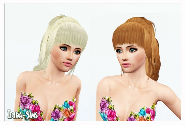 Half up do with bangs hairstyle   Change with bow by Irida for Sims 3