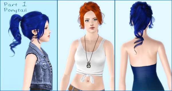 Two hairstyle retextured by Rayne`s Factory for Sims 3