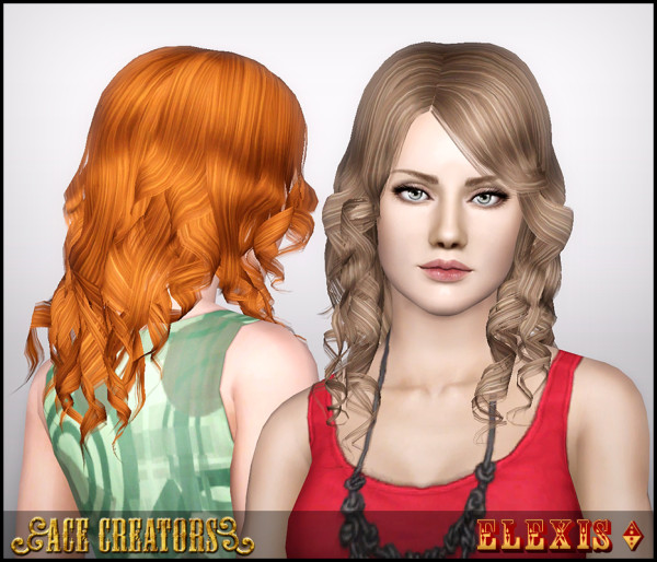 Peggyzone Hair 902 retextured by Ace Creators for Sims 3