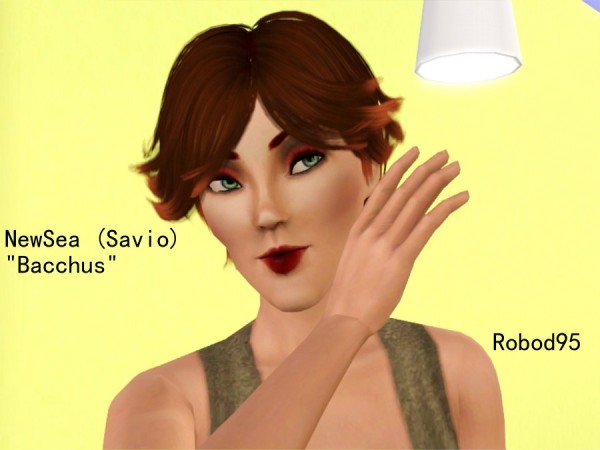 Tomboy hairstyle Bacchus Newsea retextured by Robodi95 for Sims 3