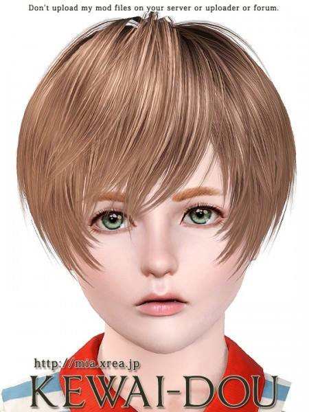 Hairstyle with fringe framing the face   Yayoi by Kewai Dou for Sims 3
