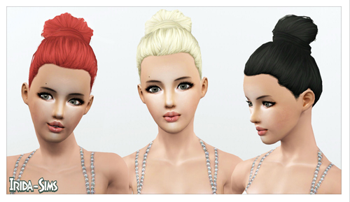 Top knot hairstyle by Irida for Sims 3