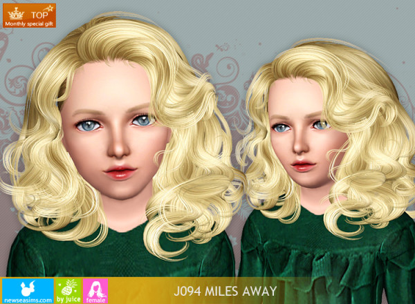 Doll hairstyle J094 Miles Away for Sims 3