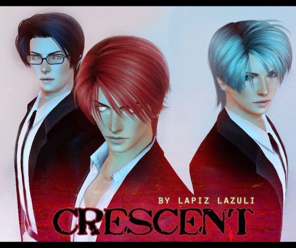 Eric hairstyle 1 Crescent by Lapiz`s Scrapyard for Sims 3