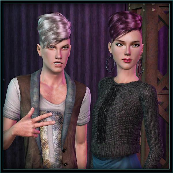 Ridge hairstyle retextured by ShojoAngel  for Sims 3