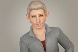 Runway Sleek Back Hairstyle   Cazy's Flame retextured by Beaverhausen for Sims 3