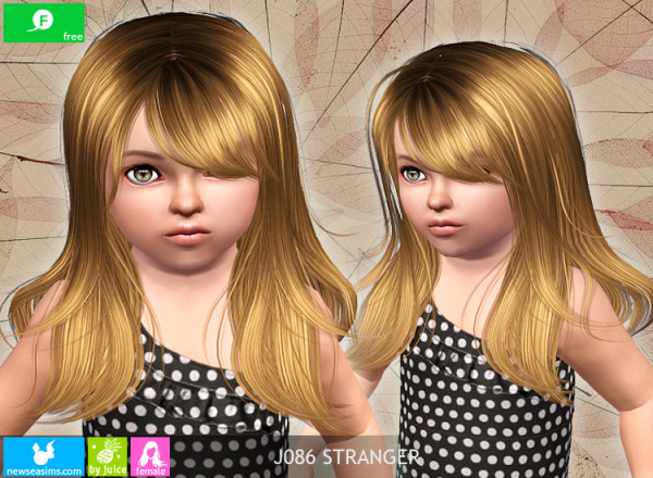 Clean and sharp hairstyle J086 Stranger by NewSea for Sims 3