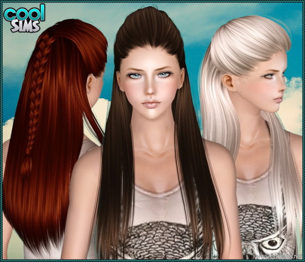Half up braided hairstyle Primadonna by Anto for Sims 3