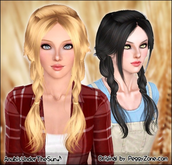 Remarkable Double Light Braids Peggy S Hairstyle Retextured By Anubis Sims Short Hairstyles For Black Women Fulllsitofus