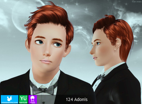 Last hairstyle 124 Adonis by NewSea for Sims 3